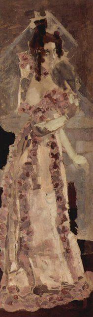 Портрет жены Надежды Ивановны Забелы-Врубель :: Врубель М.А., описание - Vrubel Michail фото