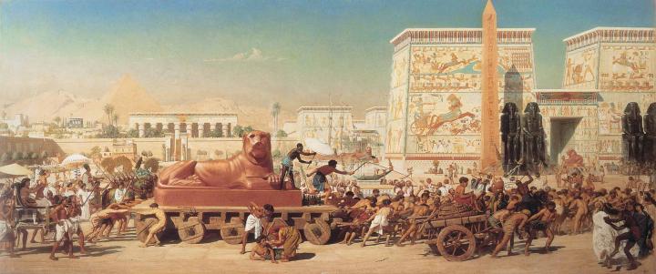 Израильтяне в Египте :: Поинтер Эдвард Джон ( Англия (1836-1919) ) - Архитектура фото