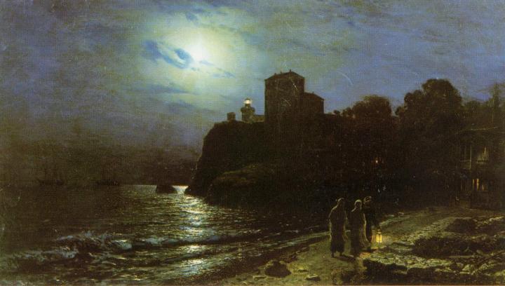 картина Лунная ночь на море :: Лагорио Л. Ф. - Море в живописи ( морские пейзажи, seascapes ) фото