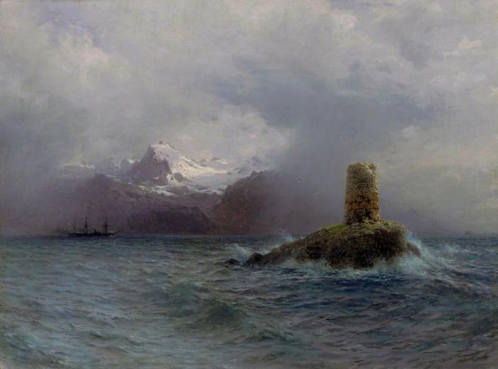 картина Лафотенский остров :: Лагорио Л. Ф. - Море в живописи ( морские пейзажи, seascapes ) фото