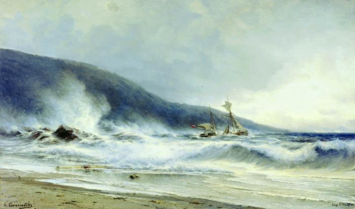 Прибой у мыса Сен-Мартини :: Боголюбов А. П. [ Alexey Bogoliubov ] - Море в живописи ( морские пейзажи, seascapes ) фото