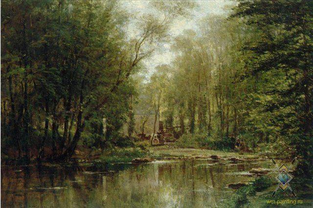 Лес в Вёле. Нормандия :: Боголюбов А. П. - Море в живописи ( морские пейзажи, seascapes ) фото