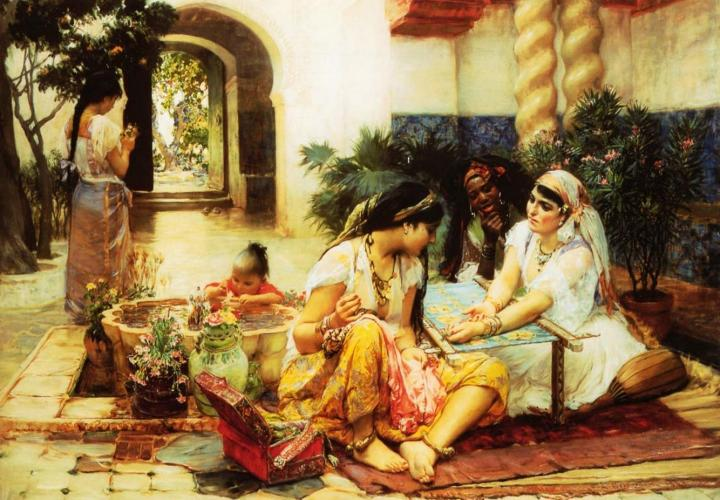 В алжирском доме :: Бридгман Фредерик Артур - Арабский восток фото