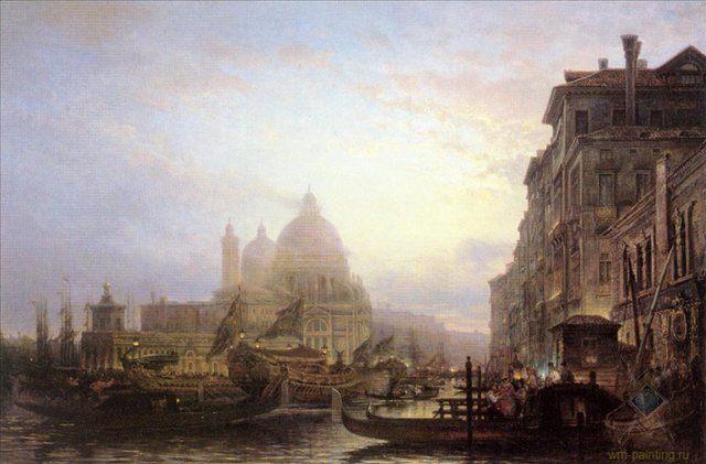 Венеция ночью :: Боголюбов А. П. - Море в живописи ( морские пейзажи, seascapes ) фото