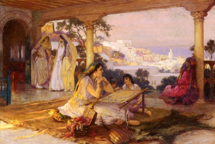 картина Восточная веранда :: Бридгман Фредерик Артур - Арабский восток фото