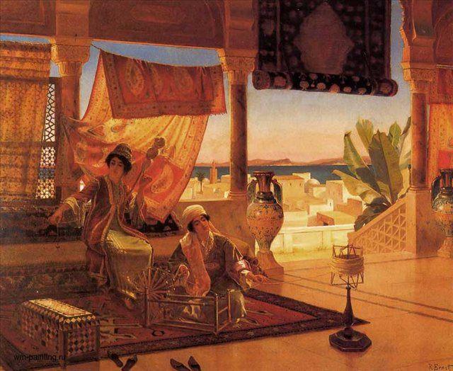 картина Терраса дворца в Каире :: Рудольф Эрнст - Архитектура фото