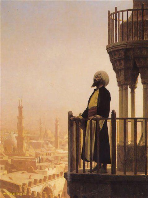 картина Призыв :: Жером Жан-Леон ( Франция ) [ Minaret ] - Архитектура фото