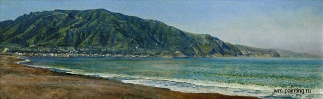 Неаполитанский залив у Кастелламаре :: Иванов А. А. - Море в живописи ( морские пейзажи, seascapes ) фото