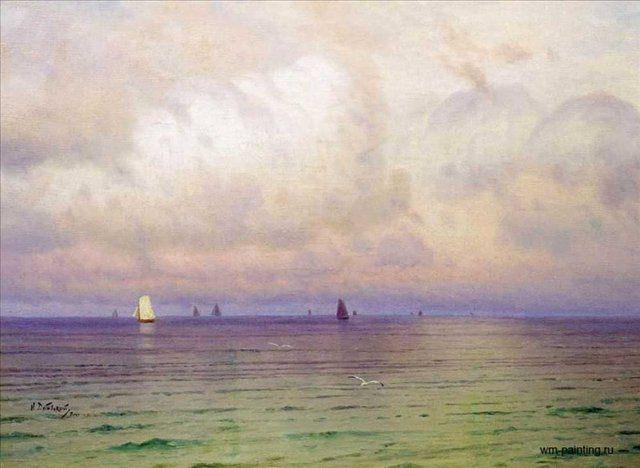 Море. Парусники :: Дубовской Н. Н. - Море в живописи ( морские пейзажи, seascapes ) фото