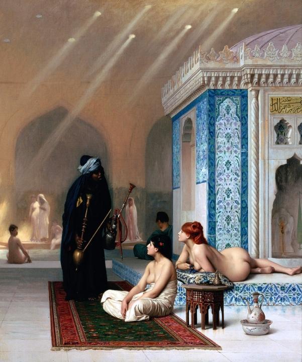 картина маслом Бассейн в гареме :: Жером Жан-Леон ( Франция ) [ Jean Leon Gerome, The Arabian pool ], плюс статья про подарки - Арабский восток фото