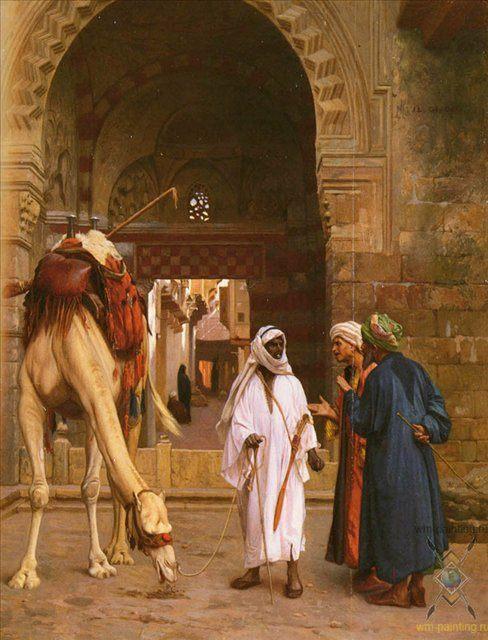 Спор арабов :: Жером Жан Леон - Арабский восток фото