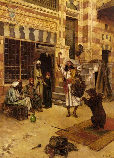 картина Послеполуденное шоу :: Рудольф Эрнст [ Rudolf Ernst ], плюс статья - подарок из Египта - Арабский восток фото