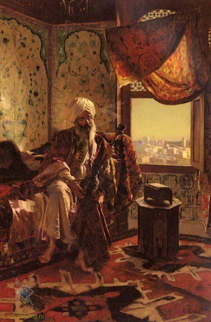 Куритель кальяна :: Рудольф Эрнст - Арабский восток фото