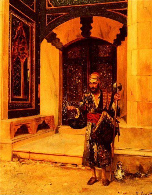 картина Просящий милостыню :: Рудольф Эрнст - Арабский восток фото