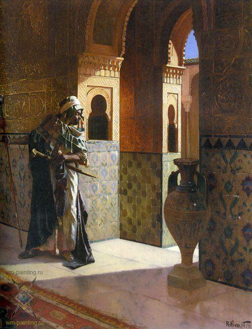 Марокканский стражник :: Рудольф Эрнст - Арабский восток фото