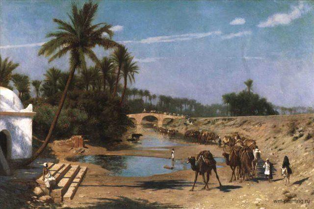 арабский пейзаж Путешествие через Алжир :: Жером Жан-Леон - Арабский восток фото