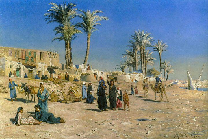 В окрестностях Каира :: Петер Мёнстед ( Дания ) - Арабский восток фото