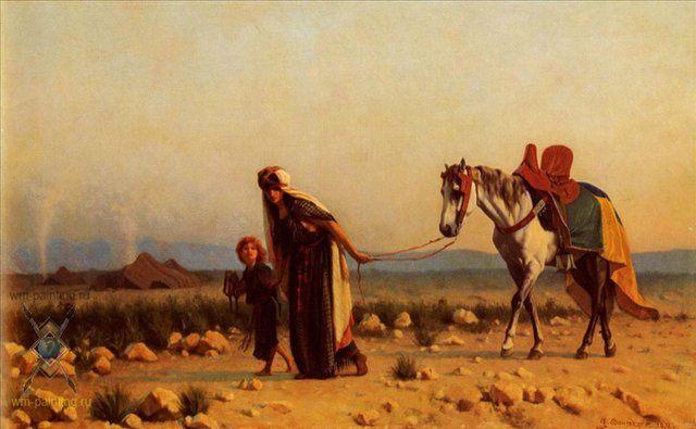 Возвращение :: Буланже, Густав Рудольф [ Gustave Clarence Rodolphe Boulanger ] - Арабский восток фото