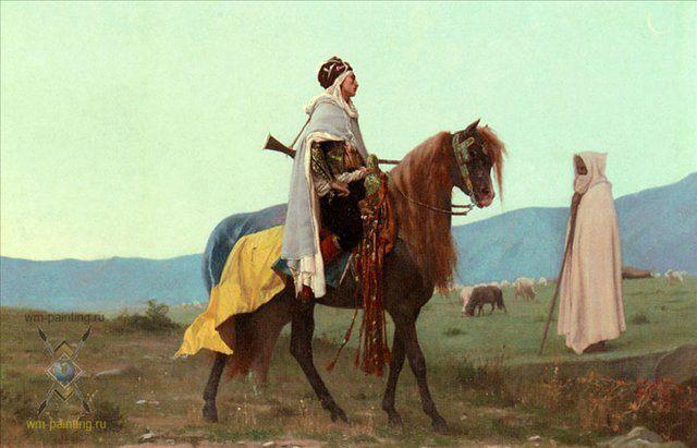 Арабский всадник :: Буланже, Густав Рудольф [ Gustave Clarence Rodolphe Boulanger ] - Арабский восток фото