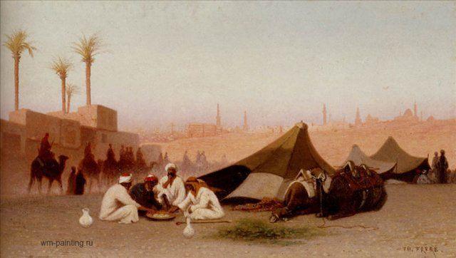 Завтрак в лагерной стоянке возле Каира :: - Арабский восток фото