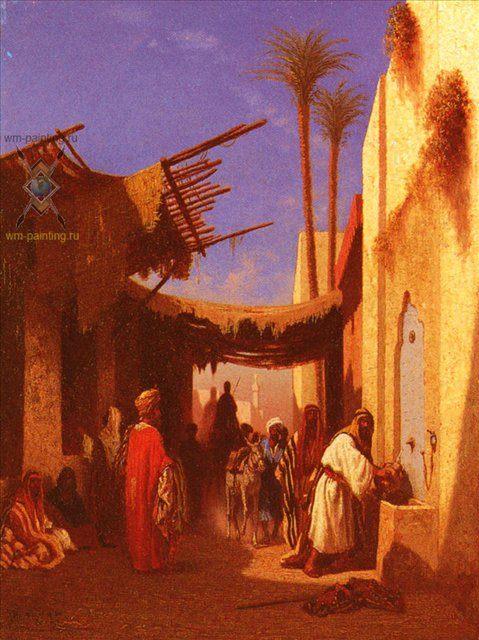 Улица в Дамаске ( 1 часть диптиха ) :: Чарльз Теодор Фрей [ Street In Damascus ] - Арабский восток фото