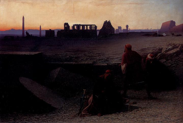 картина Руины в Фивах :: Чарльз Теодор Фрей [ Ruines De Thebes ] - Арабский восток фото