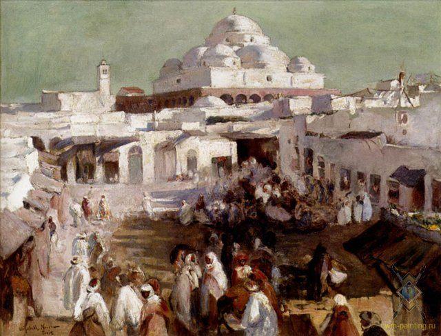 картина Мечеть в Тунисе :: Элизабет Нёрс [ The mosque, Tunis ] - Архитектура фото