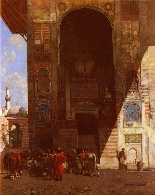 картина Отдых возле мечети :: Альберто Пасини - Архитектура фото