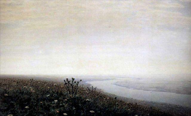 Утро на Днепре ::  Куинджи Архип Иванович - Море в живописи ( морские пейзажи, seascapes ) фото