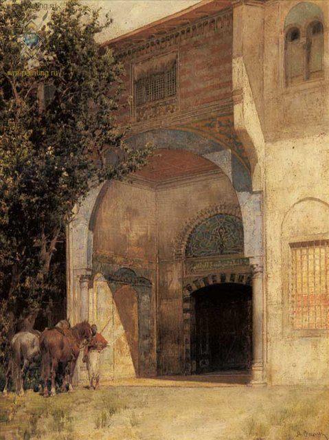 Стоя на страже :: Альберто Пасини ( итальянский художник ) - Арабский восток фото