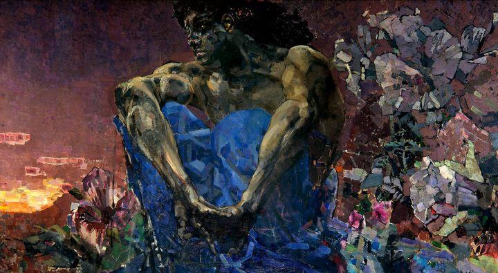 картина Демон сидящий :: Врубель М.А., описание картины - Vrubel Michail фото