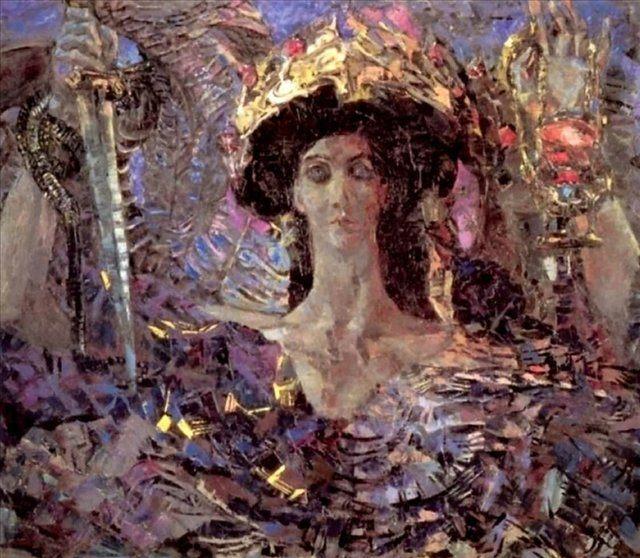 картина Шестикрылый серафим :: Врубель М.А., описание картины - Vrubel Michail фото