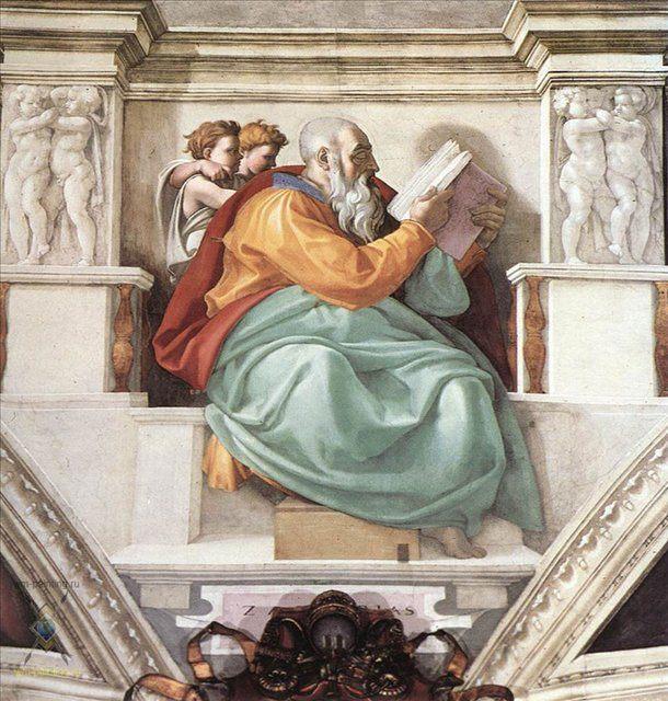 Захария :: Микеланджело Буаноротти ( Италия ) - Фрески, монументальная живопись, роспись стен фото