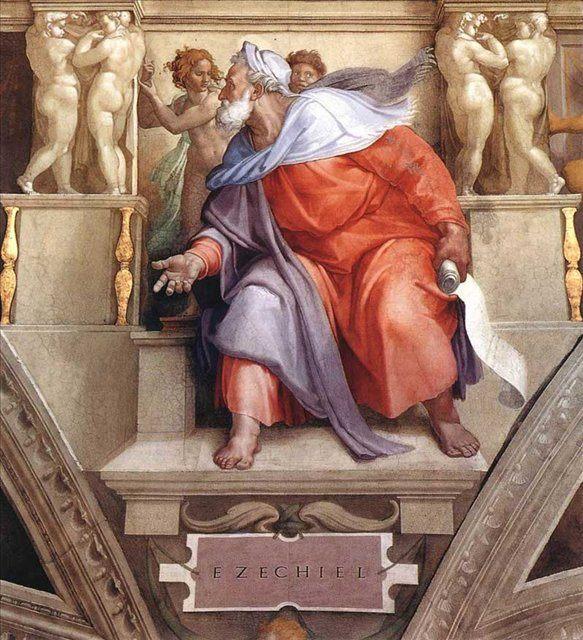 Иезекииль ::  Микеланджело Буаноротти [ Ezekiel ] - Фрески, монументальная живопись, роспись стен фото