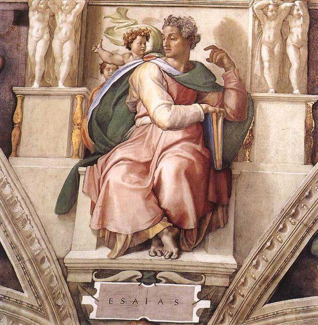 Исайя :: Микеланджело Буаноротти  [ by MICHELANGELO Isaiah ] - Фрески, монументальная живопись, роспись стен фото