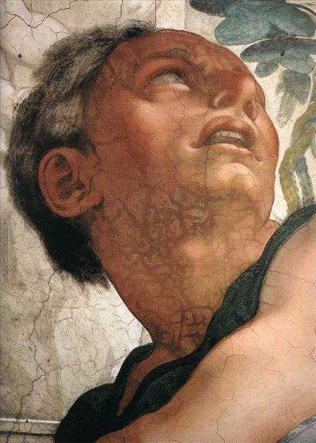 Пророк Иона ( деталь ) ::  Микеланджело Буаноротти ( Италия ) - Фрески, монументальная живопись, роспись стен фото