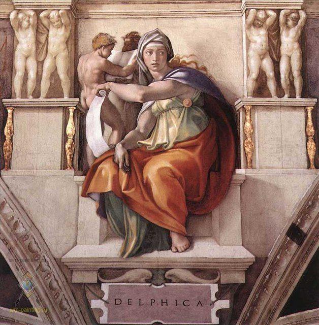 Дельфийская сивилла :: Микеланджело Буаноротти ( Италия ) - Фрески, монументальная живопись, роспись стен фото