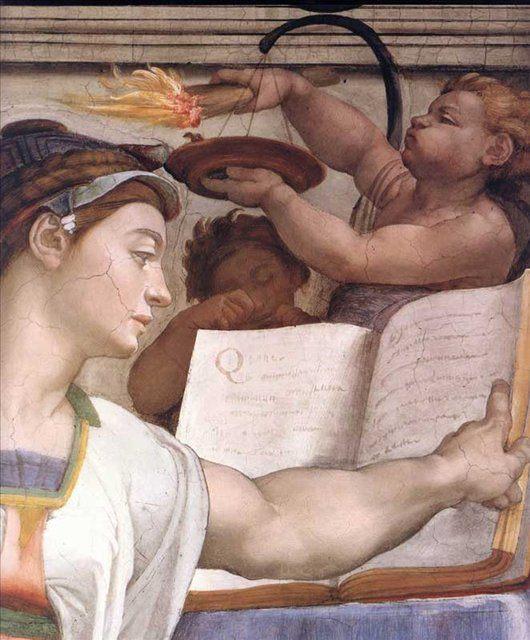 Эритрейская сивилла ( сибилла ) :: Микеланджело Буаноротти ( Италия ) - Фрески, монументальная живопись, роспись стен фото