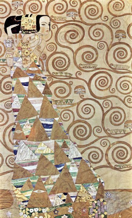 Ожидание ( фрагмент ) :: Густав Климт (Австрия ), описание картины  - Gustav Klimt (Климт Густав ) фото