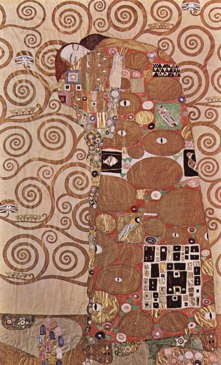 Объятия ( фрагмент картона ) :: Густав Климт (Австрия ), описание картины  - Gustav Klimt (Климт Густав ) фото