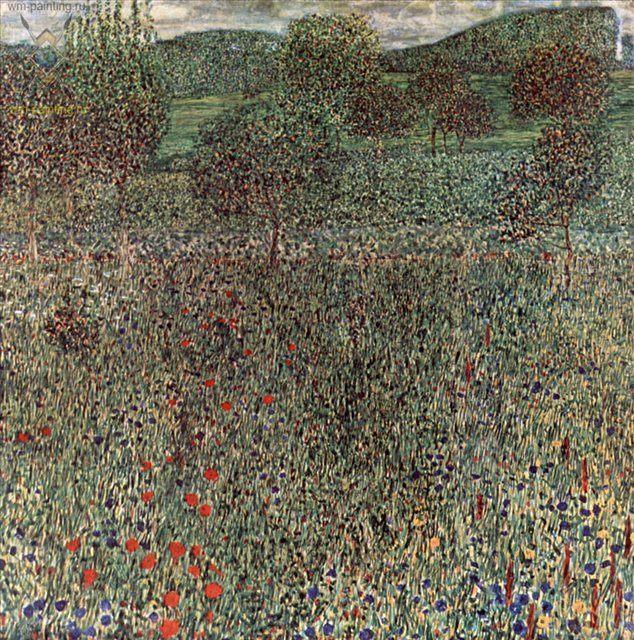 Цветущая нива ( пейзаж ) :: Густав Климт (Австрия ) - Gustav Klimt фото