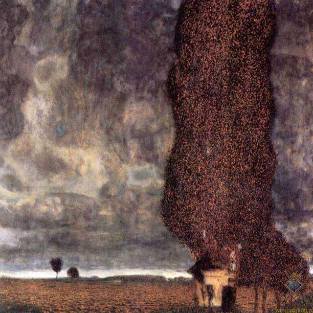 Тополь-исполин, или Надвигающаяся гроза :: Густав Климт (Австрия ) - Gustav Klimt фото