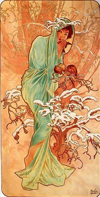 Зима :: Альфонс Муха ( Чехия ) [ Alphonse Maria Mucha, the czech artist ] - Alfons Maria Mucha фото