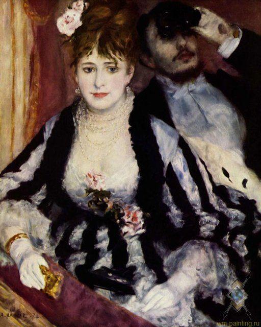 Театральная Ложа :: Ренуар Пьер Огюст, описание картины - Pierre-Auguste Renoir фото