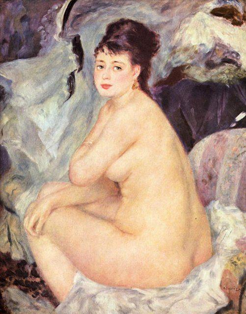 Обнажённая Анна :: Ренуар Пьер Огюст ( Франция ) - Pierre-Auguste Renoir фото