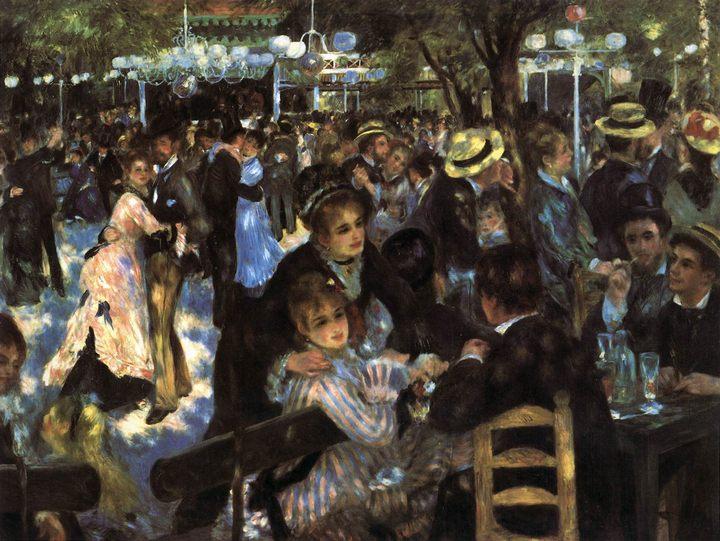 "Танцы в ""Мулен де ла Галетт"" ::  Ренуар Пьер Огюст ( Франция ) - Pierre-Auguste Renoir фото"