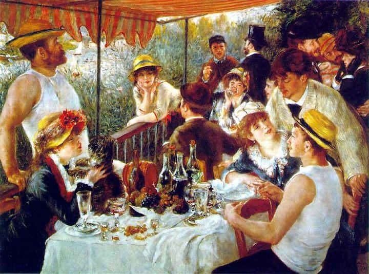 Завтрак гребцов ::   Ренуар Пьер Огюст ( Франция ) - Pierre-Auguste Renoir фото