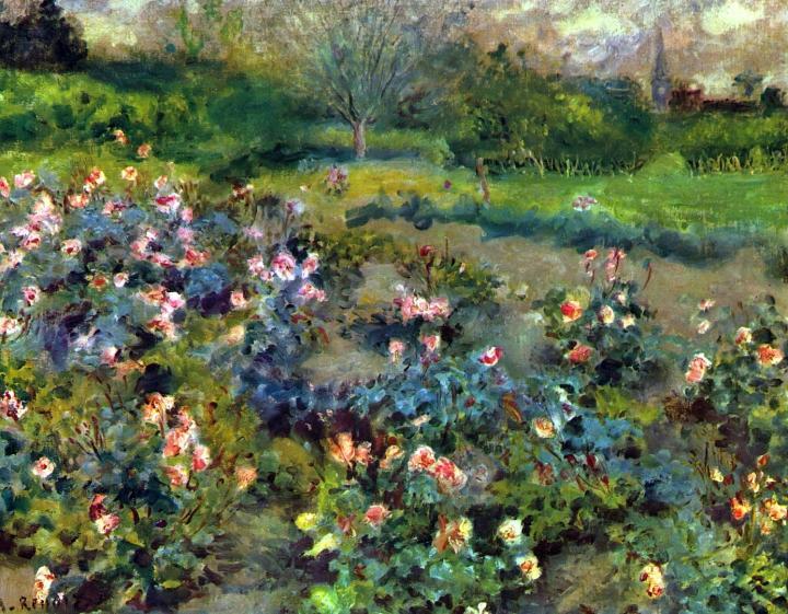 цветы и натюрморты Ренуара [ Розарий :: Ренуар Пьер Огюст ( Франция ) ] - Pierre-Auguste Renoir фото