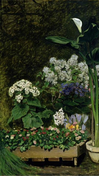 натюрморт Весенние цветы :: Ренуар Пьер Огюст (Франция) - Pierre-Auguste Renoir фото