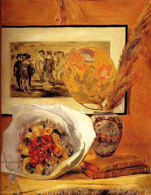 Натюрморт с букетом :: Ренуар Пьер Огюст ( Франция ) - Pierre-Auguste Renoir фото